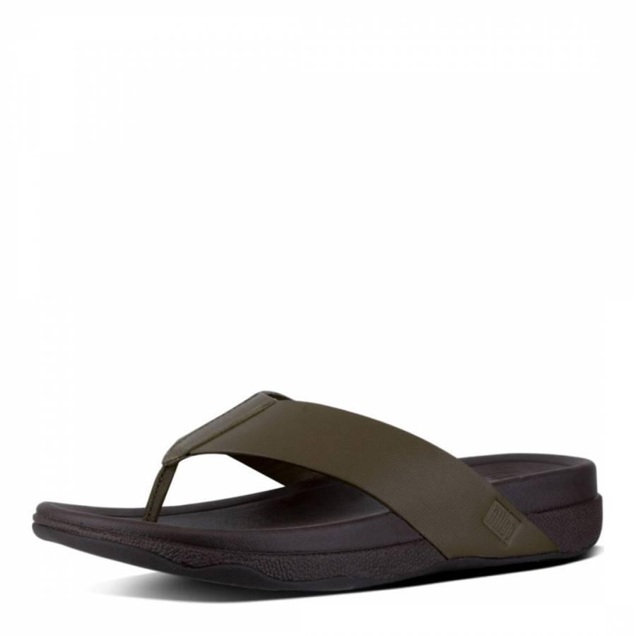 6e369749d9d0 Men s Everglade Green Leather Surfer Toe Thong Sandals - BrandAlley