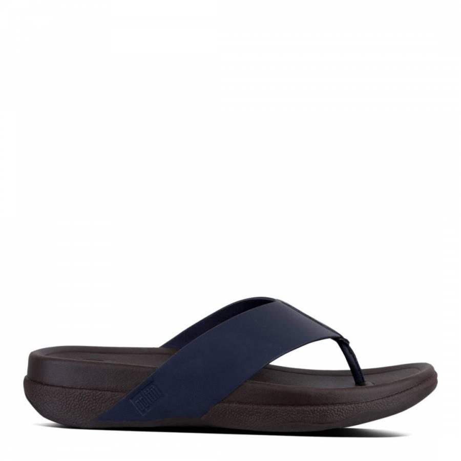 76f779562 Men s Midnight Navy Leather Surfer Toe Thong Sandal - BrandAlley