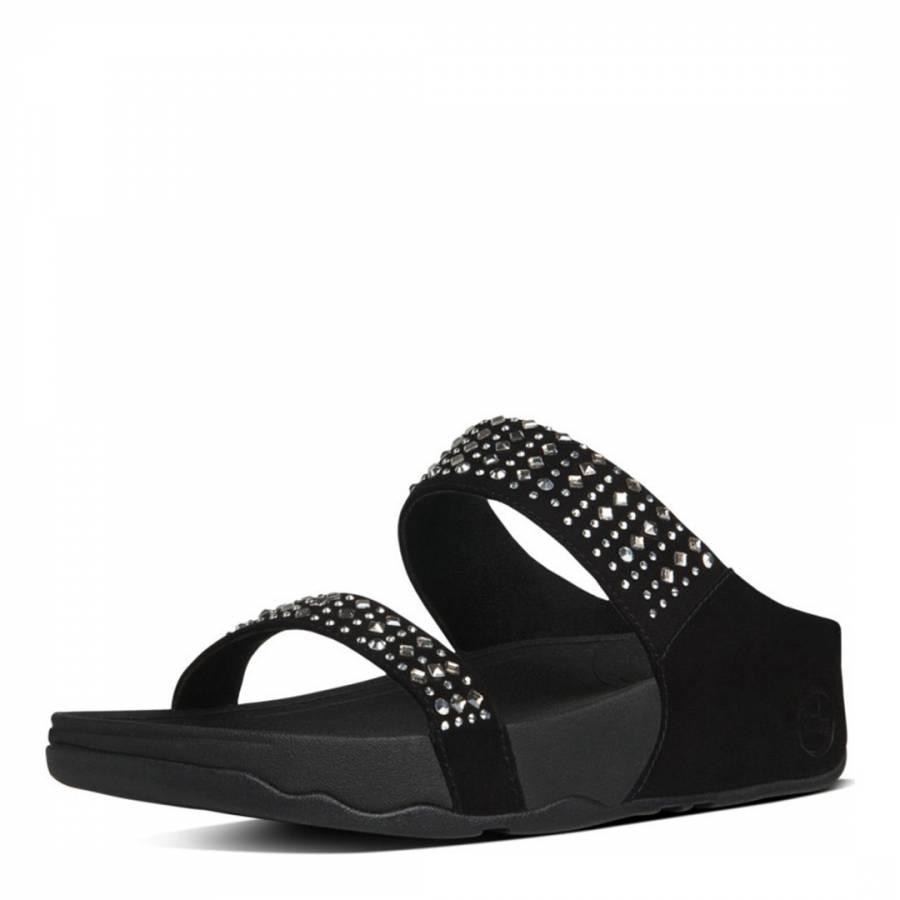44022551a86f2 Women s Black Embellished Novy Slide - BrandAlley