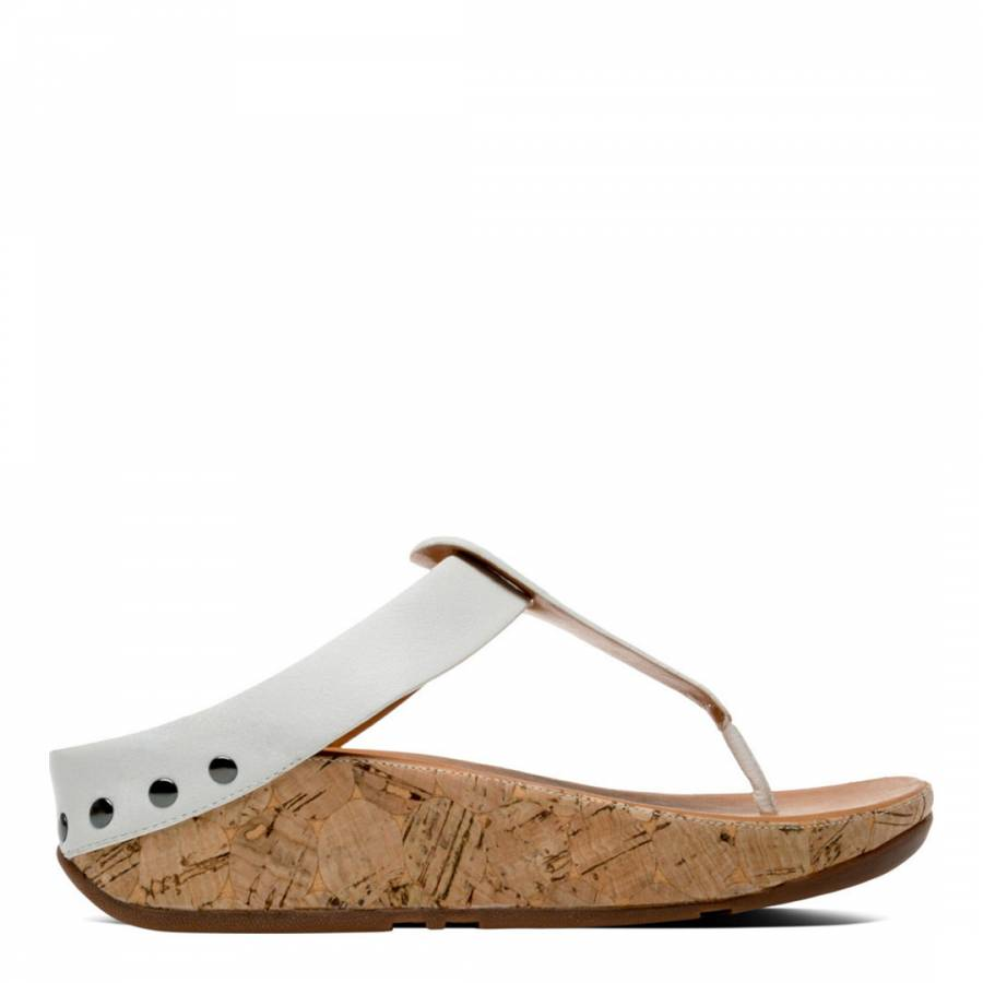 af5a4bfaa Women s Urban White Ibiza Cork Toe Thong Sandal - BrandAlley
