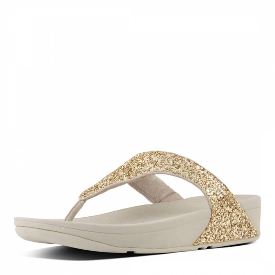 bf6b9c28eb534d Women s Pale Gold Glitterball Toe Post Sandal Women - BrandAlley