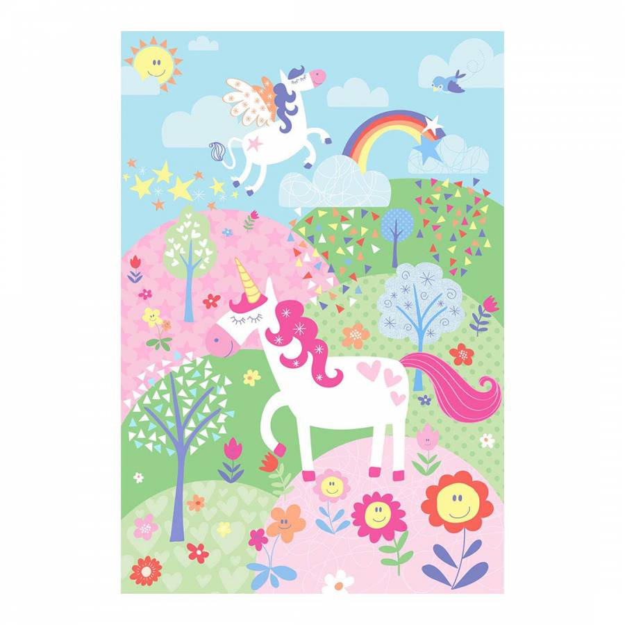 Unicorn Wall Mural Pink BrandAlley