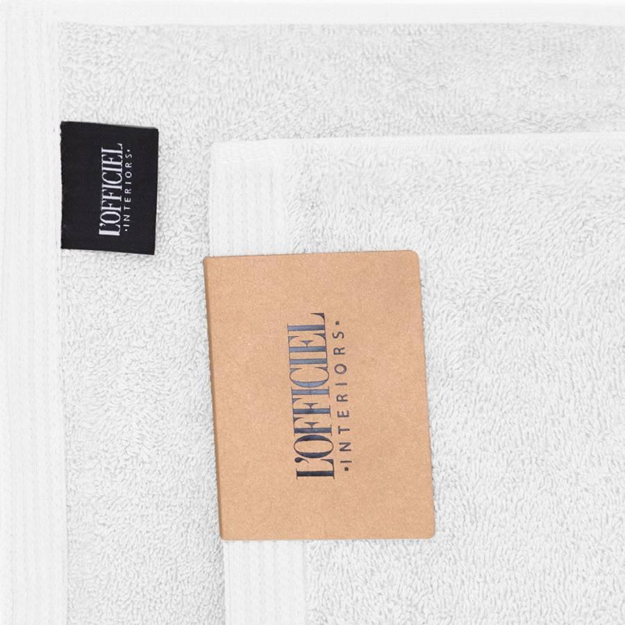 L Officiel Interiors Gigi white cotton gigi set of 3 towels - brandalley