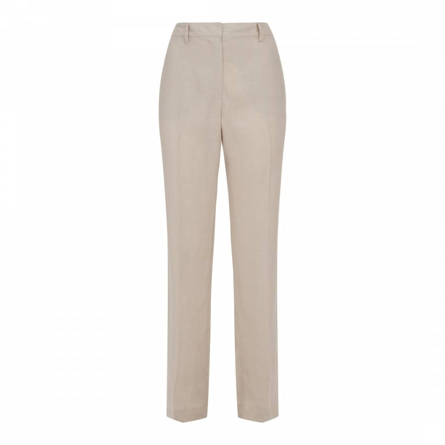 eb055ec269 Natural Linen Parallel Trousers - BrandAlley