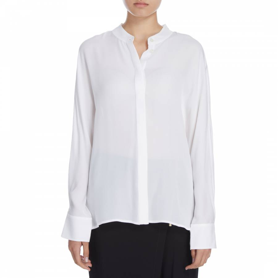 fd46842dc5c31 Donna Karan New York. Ivory Silk Dolman Sleeve Blouse
