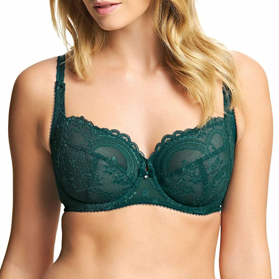 17764760b42a0 Dark Green Juniper Chrystalle Fuller Figure Bra - BrandAlley