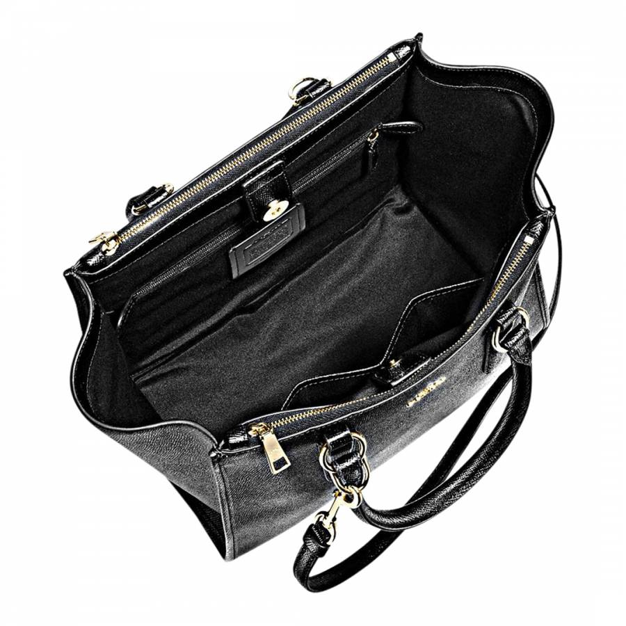 ce36889ed1 Black Crossgrain Leather Crosby Carryall Bag - BrandAlley