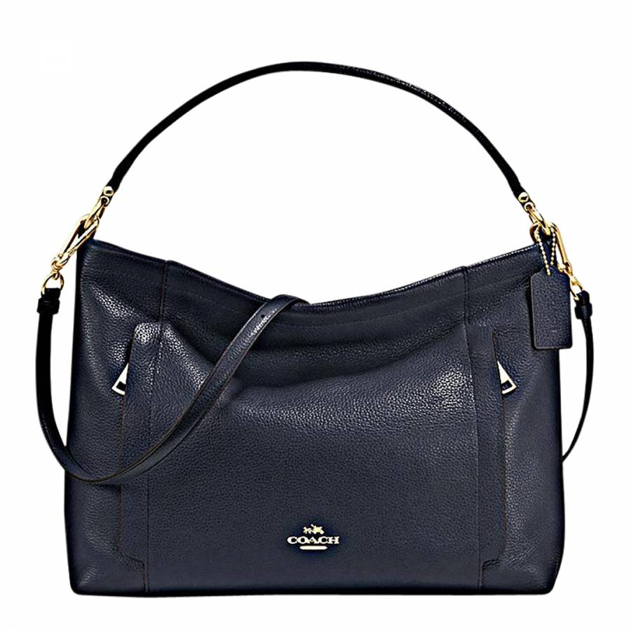 eda8bf50ca ... sweden coach navy polished pebble updated scout hobo bag 26aa5 2bc94