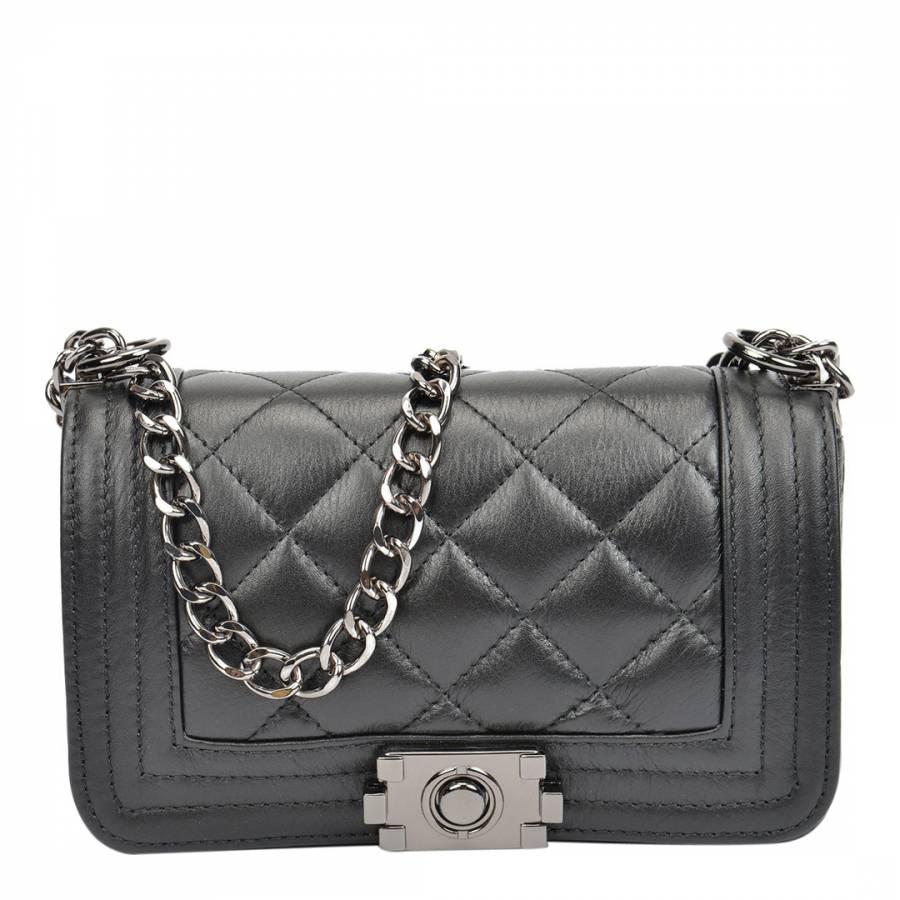 Isabella Rhea Black Leather Shoulder Bag 17fdd488d1b11