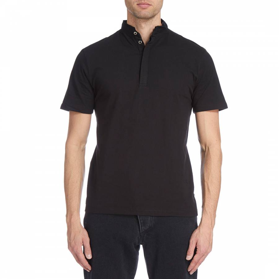 Image of Black Bowie Polo Top