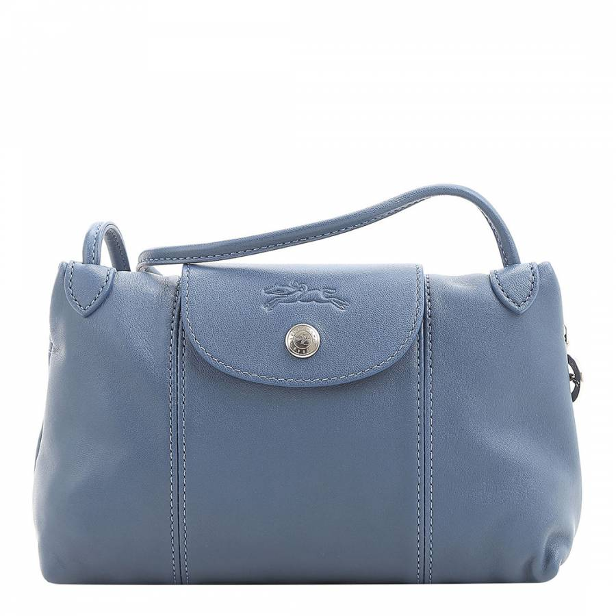 ef351916f69e Longchamp Blue Le Pliage Leather Crossbody Bag. prev. next. Zoom