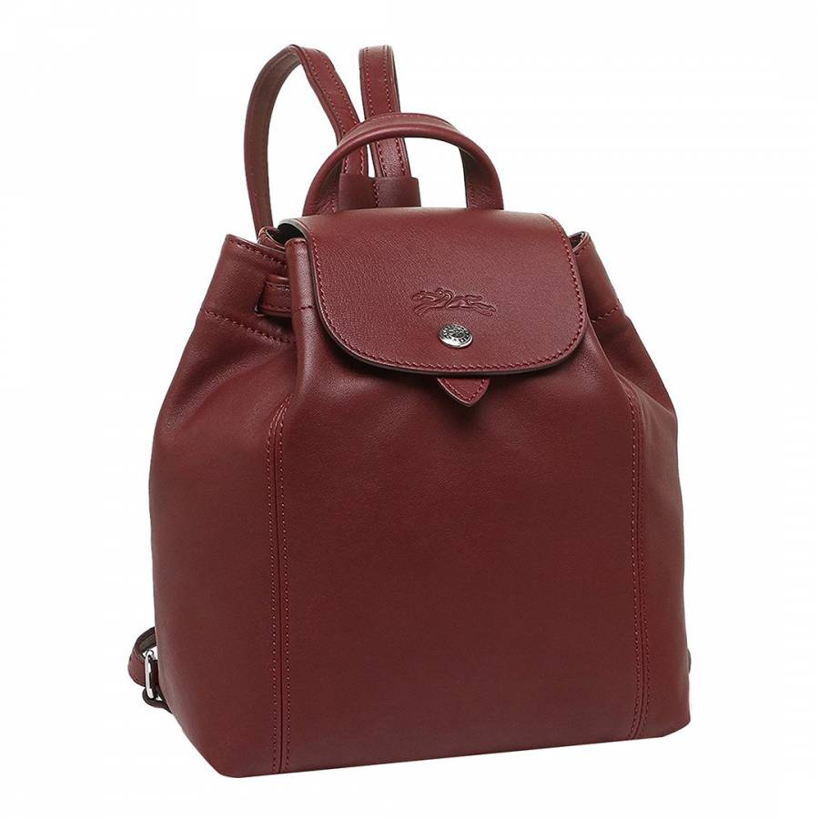 Longchamp Burgundy Le Pliage Leather Backpack. prev. next. Zoom ac6fd2d64f00f