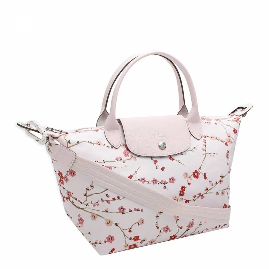 fc9247317203 Pink Japanese Floral Print Le Pliage Tote Bag - BrandAlley