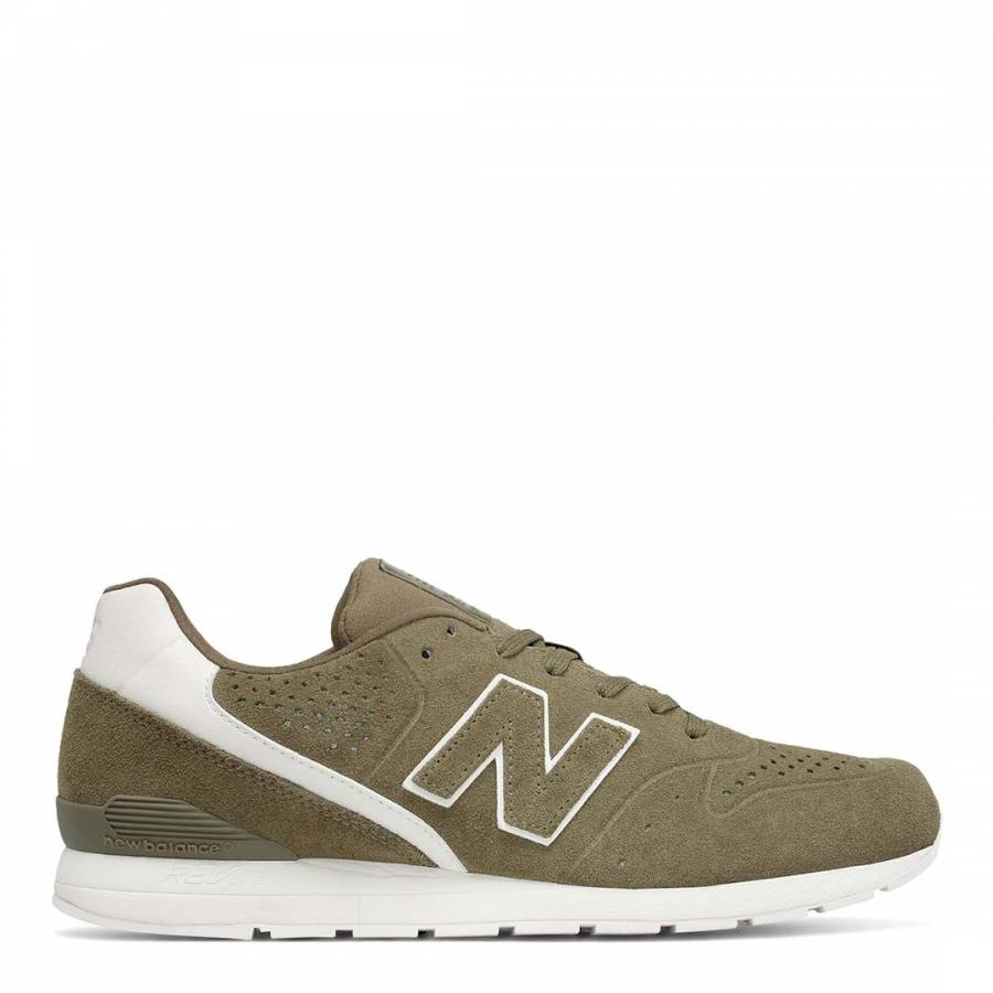 newest e3599 a44e3 New Balance Men s Khaki Suede 996 Trainers
