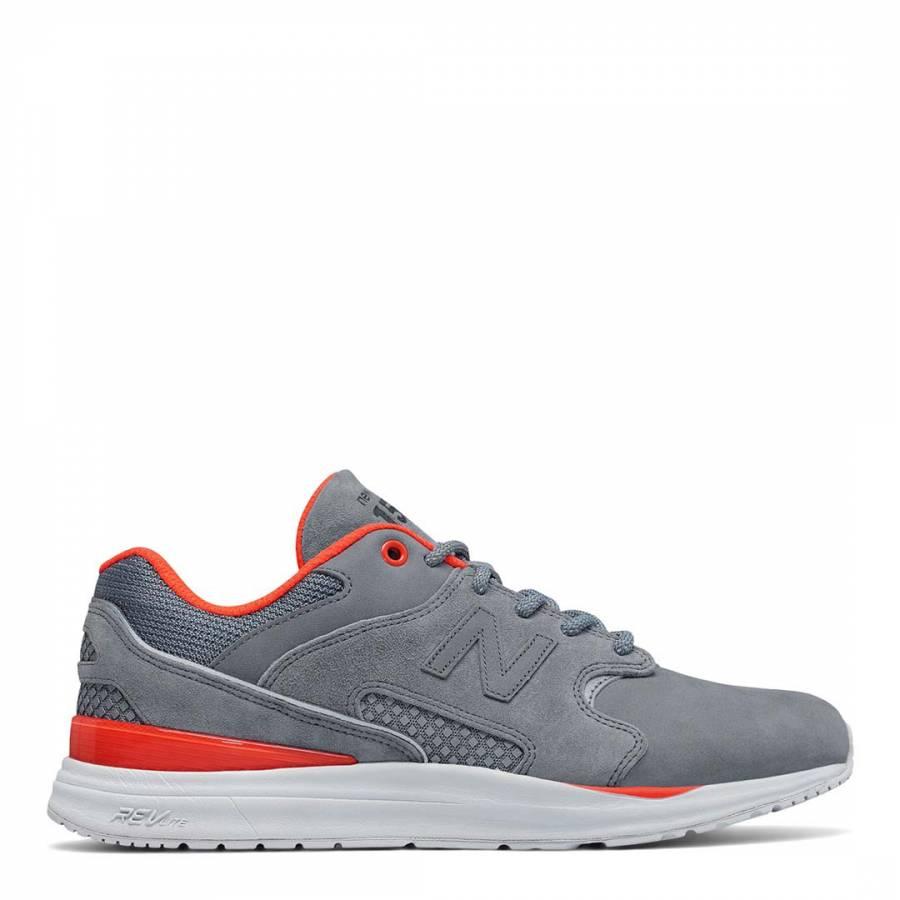Men's Grey/Orange Suede 1550 Trainers