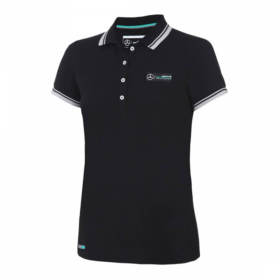 Image of Women's Black Contrast Classic Polo