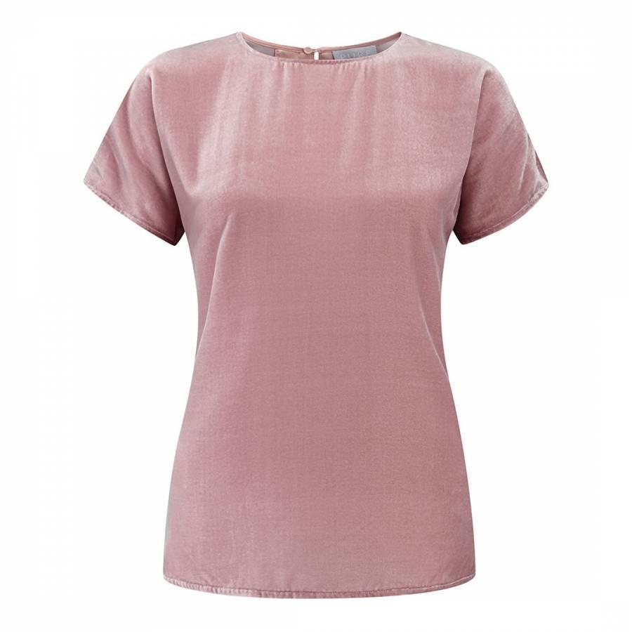 4be29ec7eb73c Pure Collection Soft Rose Silk Velvet T-Shirt