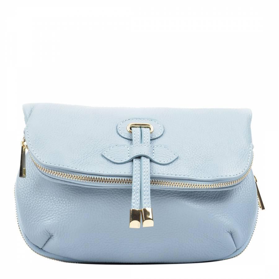 26a69bc6cc Carla Ferreri Light Blue Leather Crossbody Bag