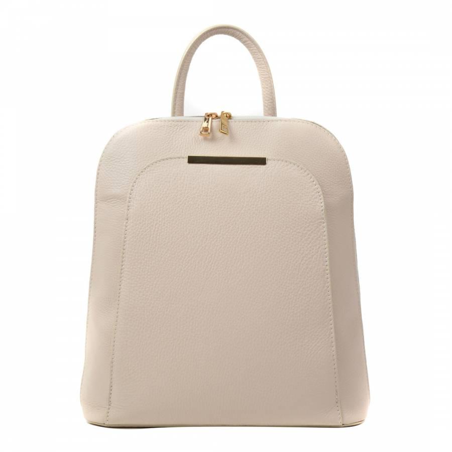 a7b15f963a Renata Corsi Beige Leather Backpack