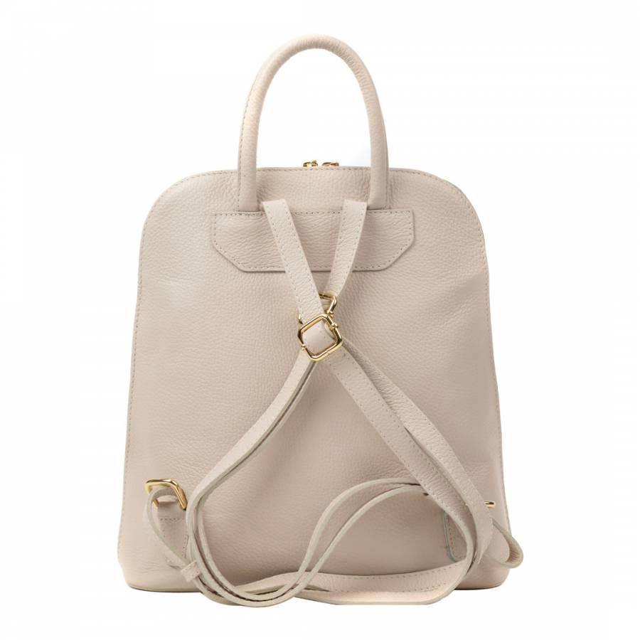 7856cd31ca Beige Leather Backpack - BrandAlley