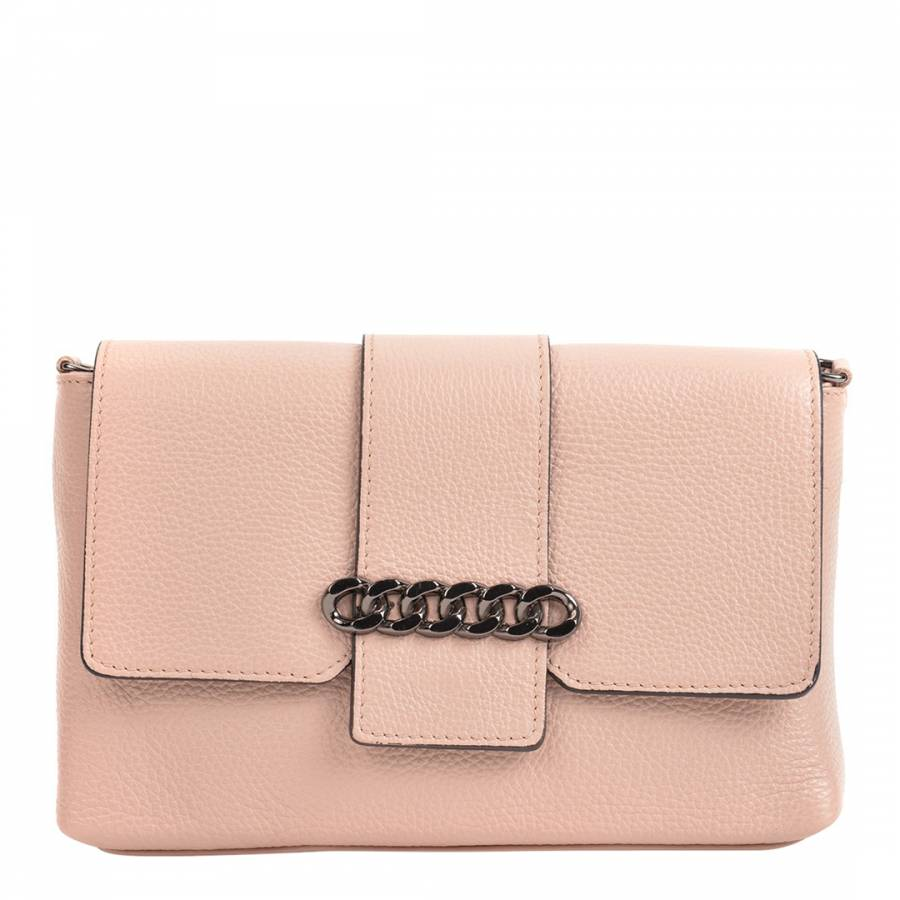 37a0e5a98784 Mangotti Bags Light Pink Leather Shoulder Bag