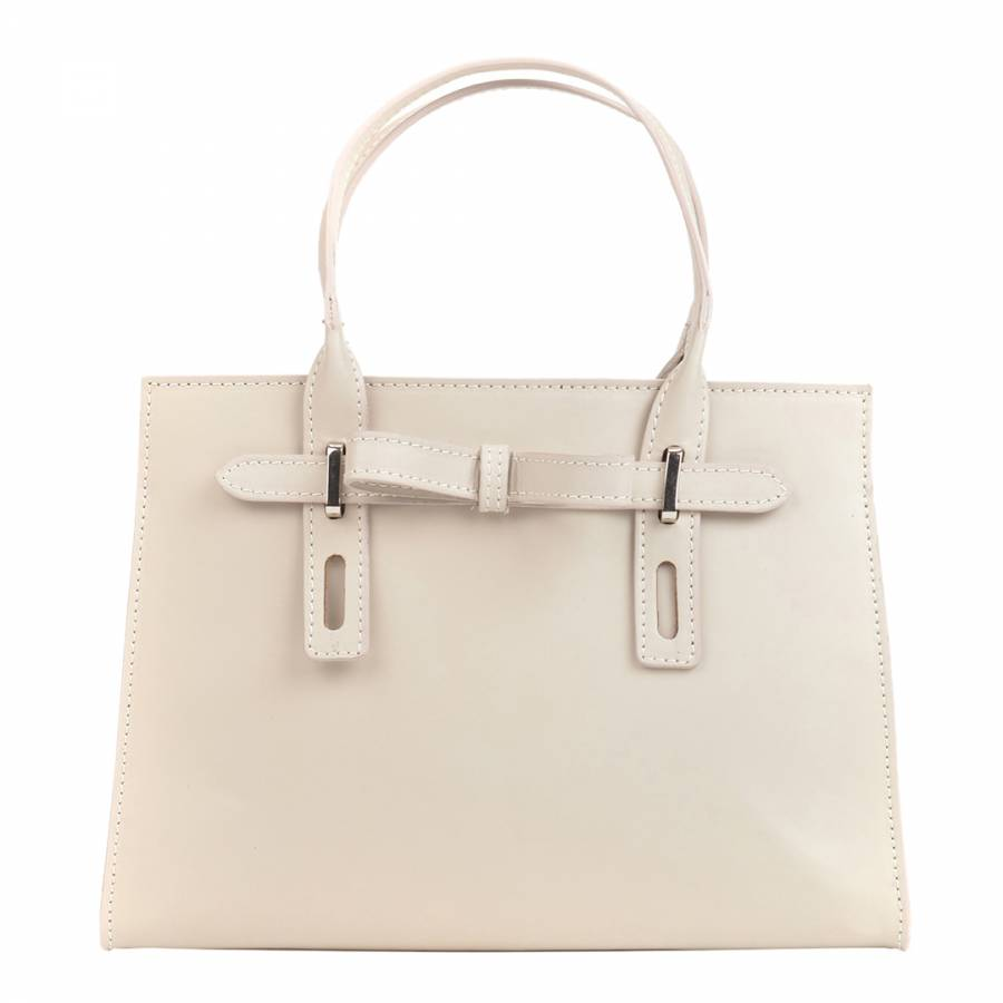 ce07b43ca Beige Leather Tote Bag - BrandAlley