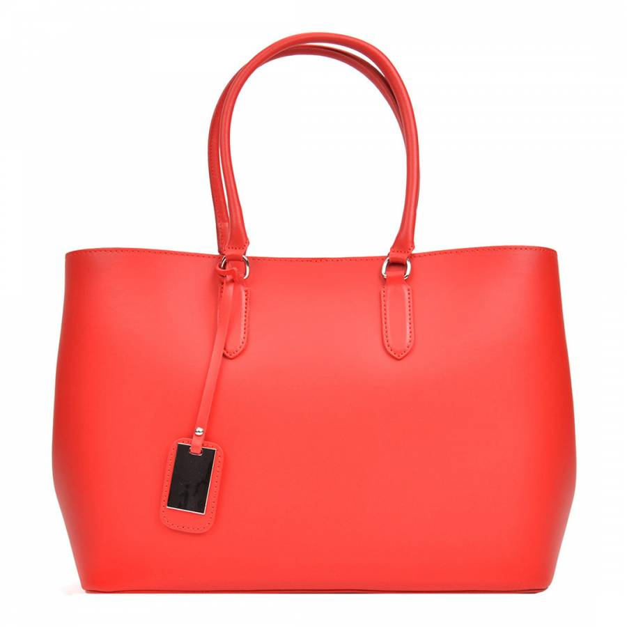 Red Leather Tote Bag - BrandAlley 5130260682
