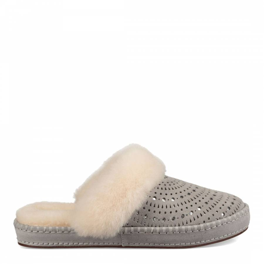 60a64b156ca Seal Grey Sheepskin Aira Sunshine Slippers - BrandAlley