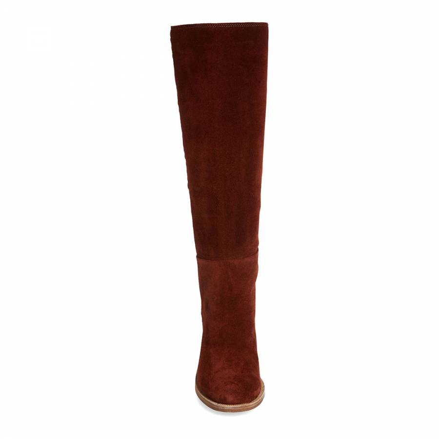 8ecc875eb61 Mahogany Suede Maeva Tall Boots - BrandAlley