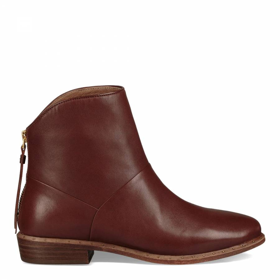 a8207389d1f Dark Chestnut Suede Kelby Ankle Boots - BrandAlley