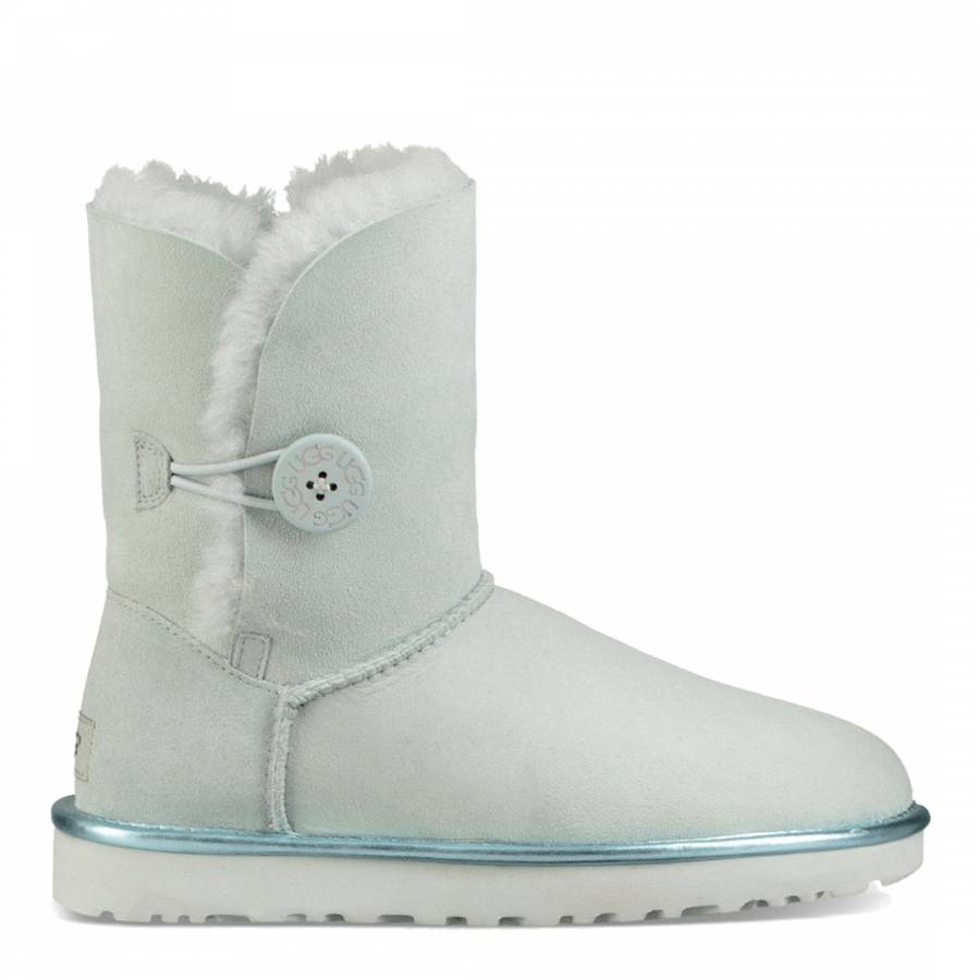 fdb2a642d7e UGG Iceberg Green Suede Bailey Button II Metallic Boots