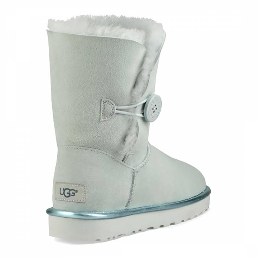 5eee6e4a21d UGG Iceberg Green Suede Bailey Button II Metallic Boots