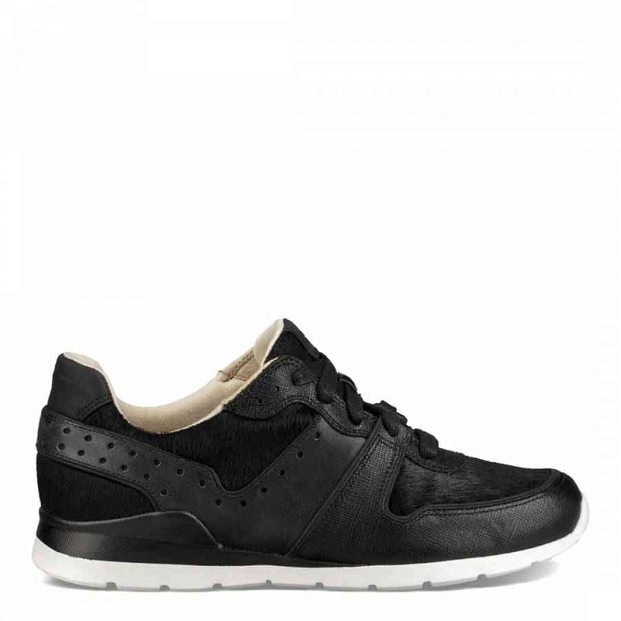 ba524b037ed Black Leather Deaven Exotic Trainers - BrandAlley