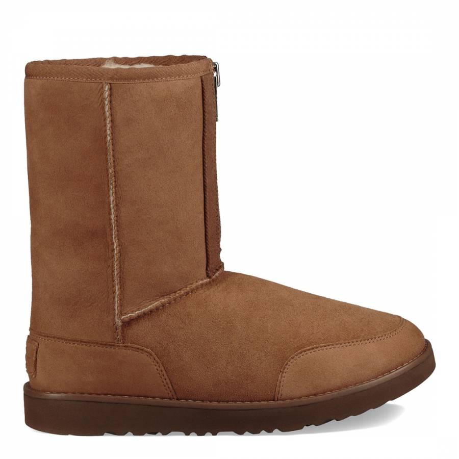 e4ad76123f1 Chestnut Sheepskin Classic Short Zip Boots - BrandAlley
