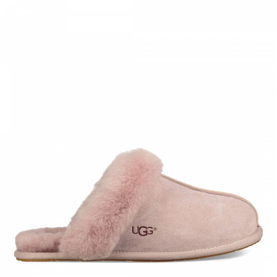 1ec0918eb49 Pale Pink Suede Scuffette II Slippers - BrandAlley