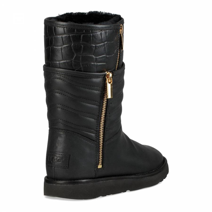 ce09297ff4a Black Leather Aviva Boots