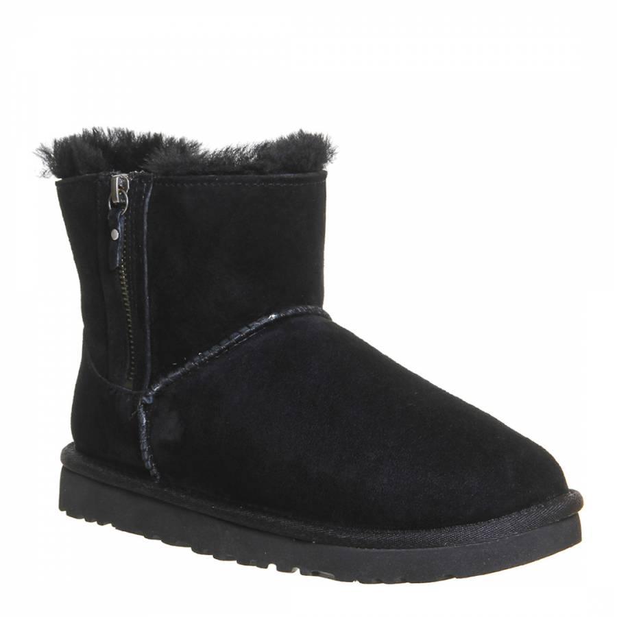 a6759d224 Black Sheepskin Classic Mini Double Zip Boots - BrandAlley