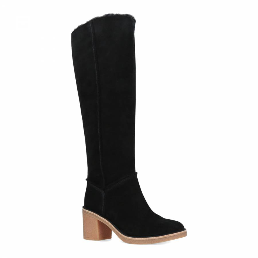 9281a3f53b2 Black Sheepskin Kasen Tall Calf Boots - BrandAlley