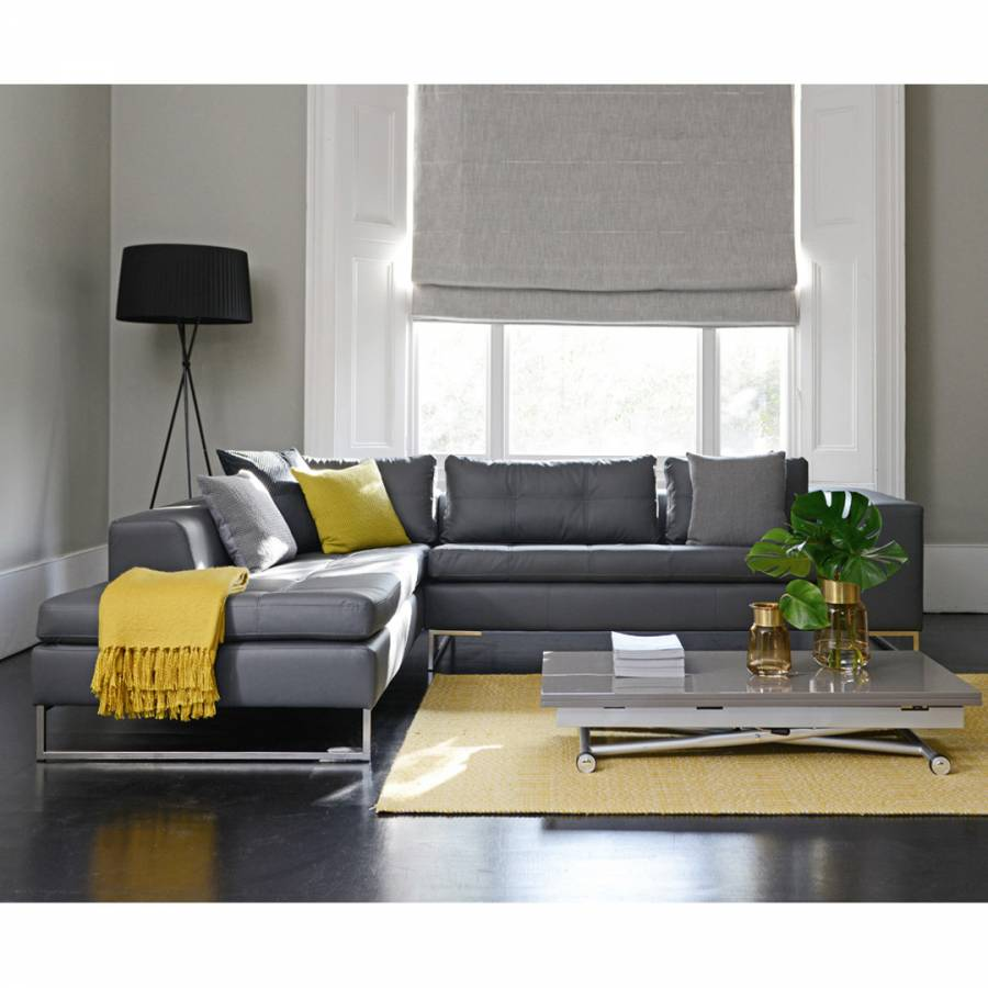 Vienna Left Hand Corner Sofa Grey Brandalley