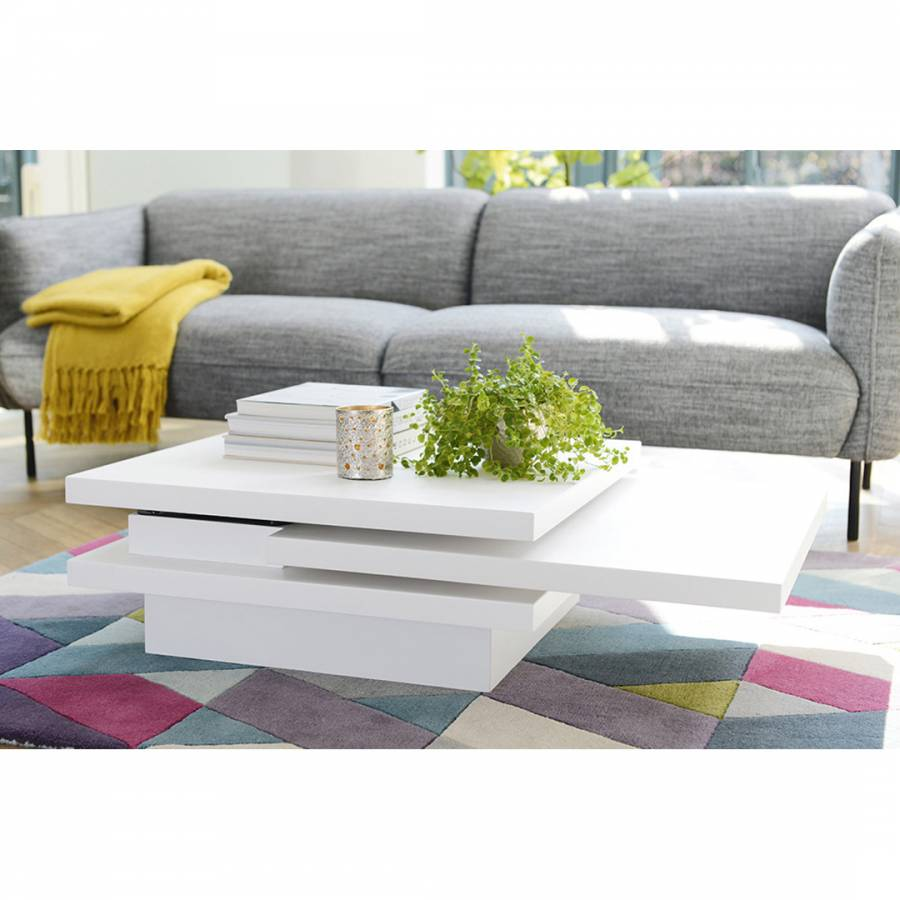 Dwell Coffee Table.Rotate Square Coffee Table White Brandalley