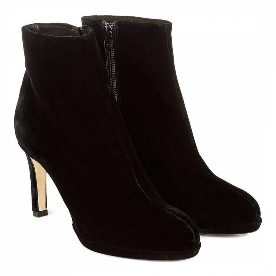 Black Velvet Julietta Ankle Boots