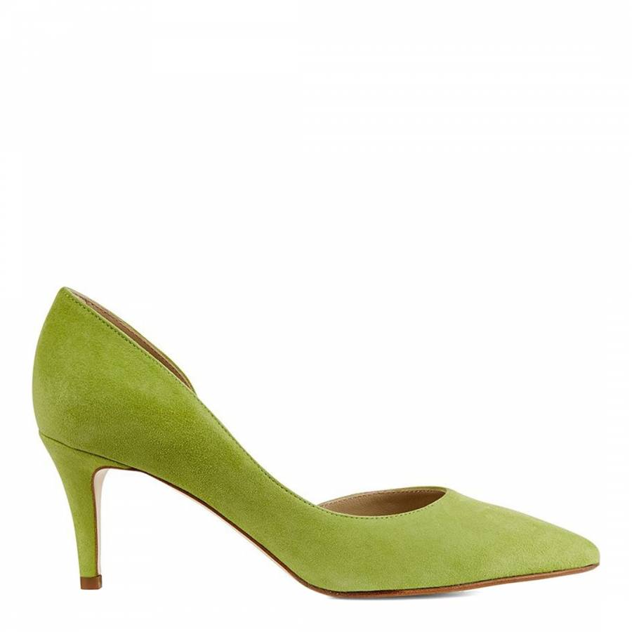 Lime Green Suede Jenna Court Heels
