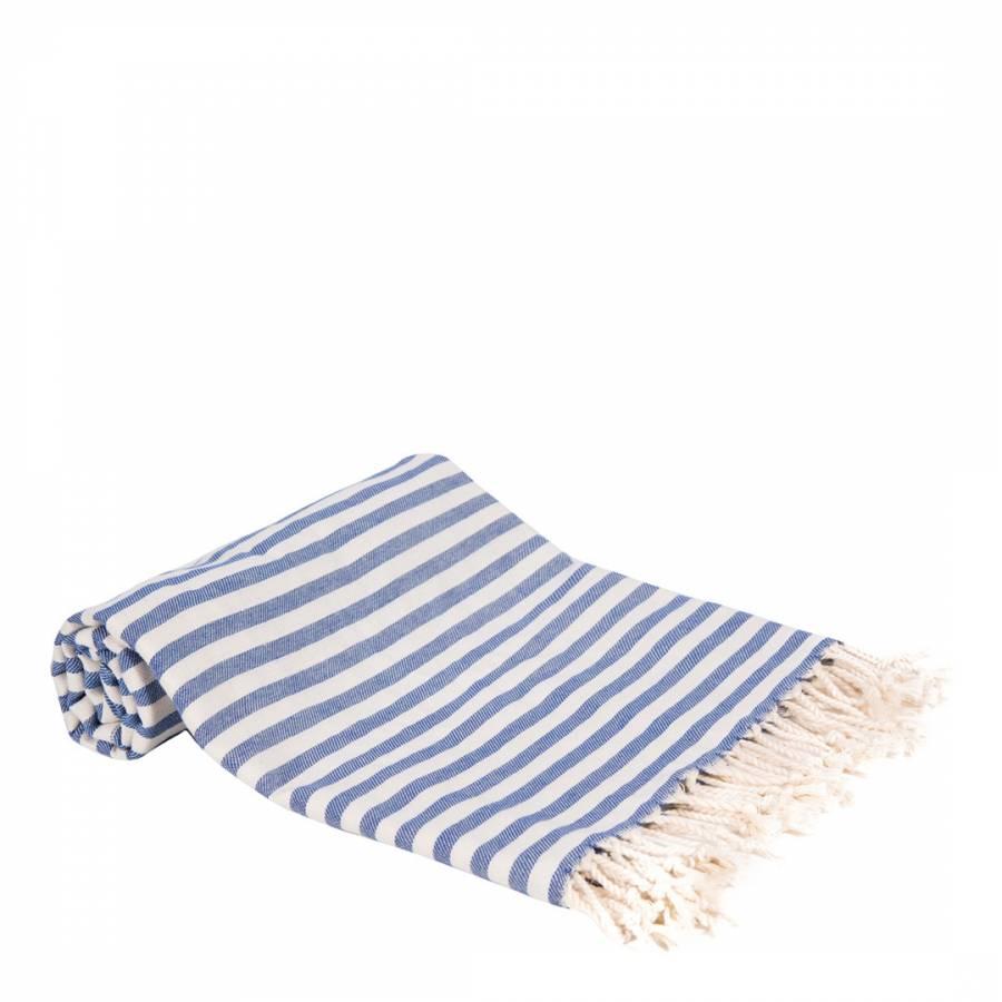 Stripes Hammam Towel Blue Brandalley