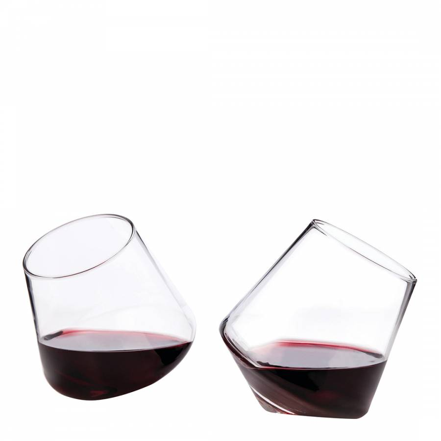 91040a24755 Set of 2 Raye Crystal Rolling Glasses - BrandAlley