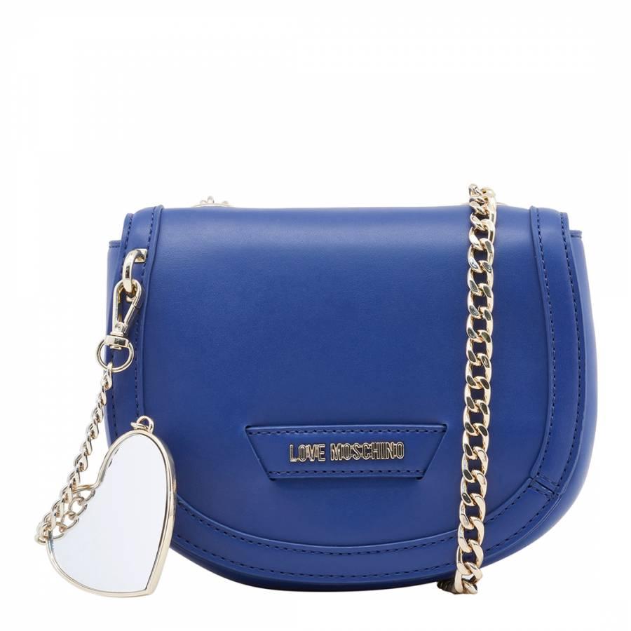 57333d9f4a12 Love Moschino Blue Detachable Heart Eco-Leather Crossbody Bag