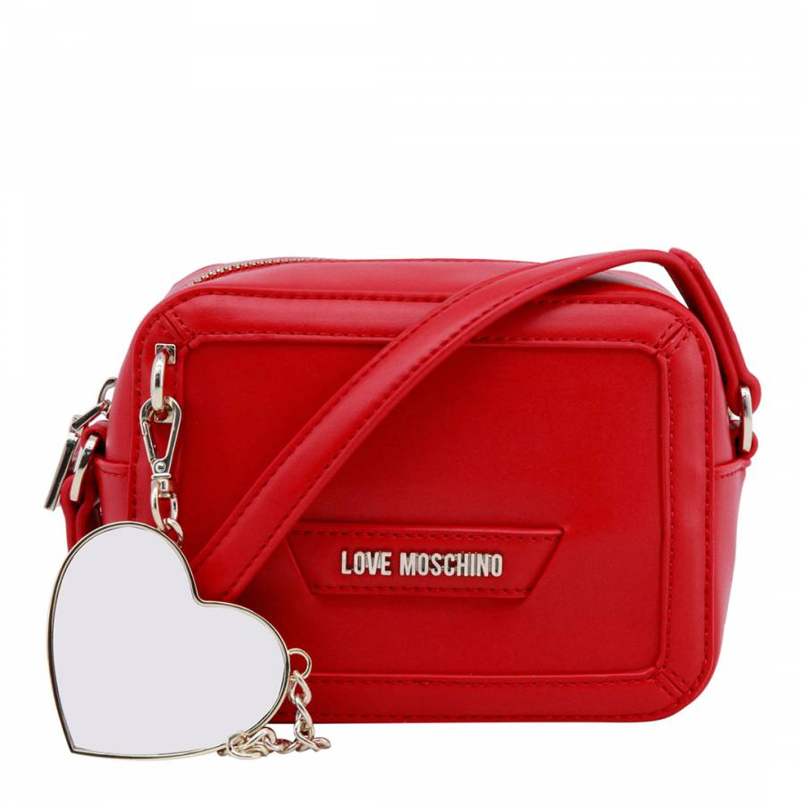 188db4f3ac Love Moschino Red Over The Shoulder Bag