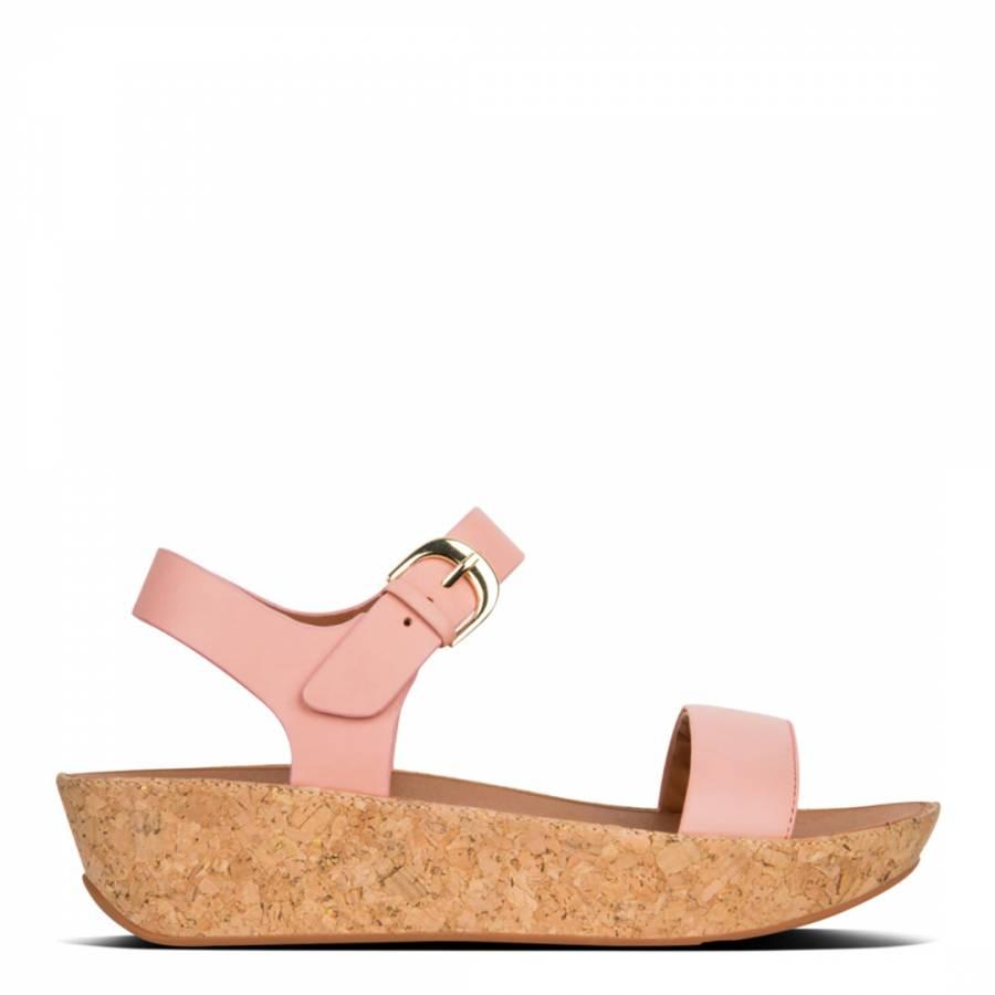 4e0961d5dd696e Women s Dusky Pink Leather Bon II Back Strap Sandals - BrandAlley