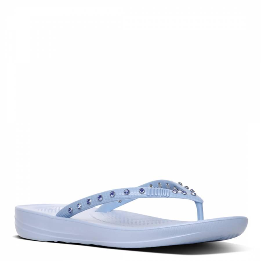 9212b69e37c184 Women s Powder Blue Crystal iQushion Ergonomic Flip Flops - BrandAlley