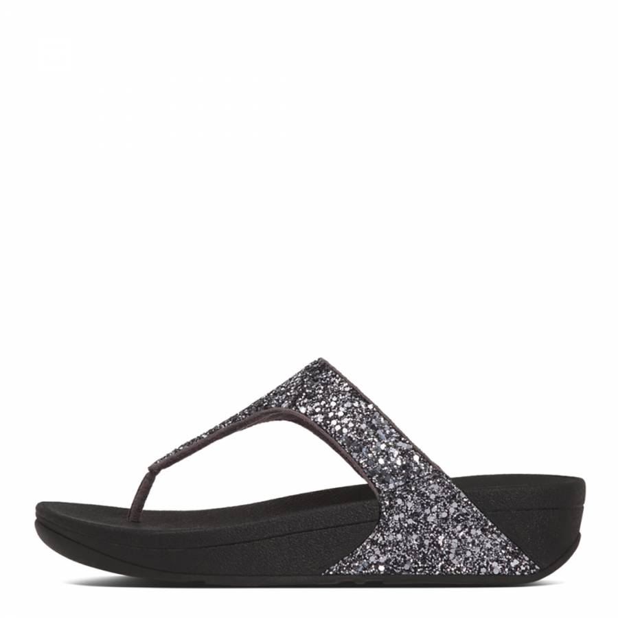 7fc37b4c843 Women s Pewter Glitterball Toe Post Sandals - BrandAlley
