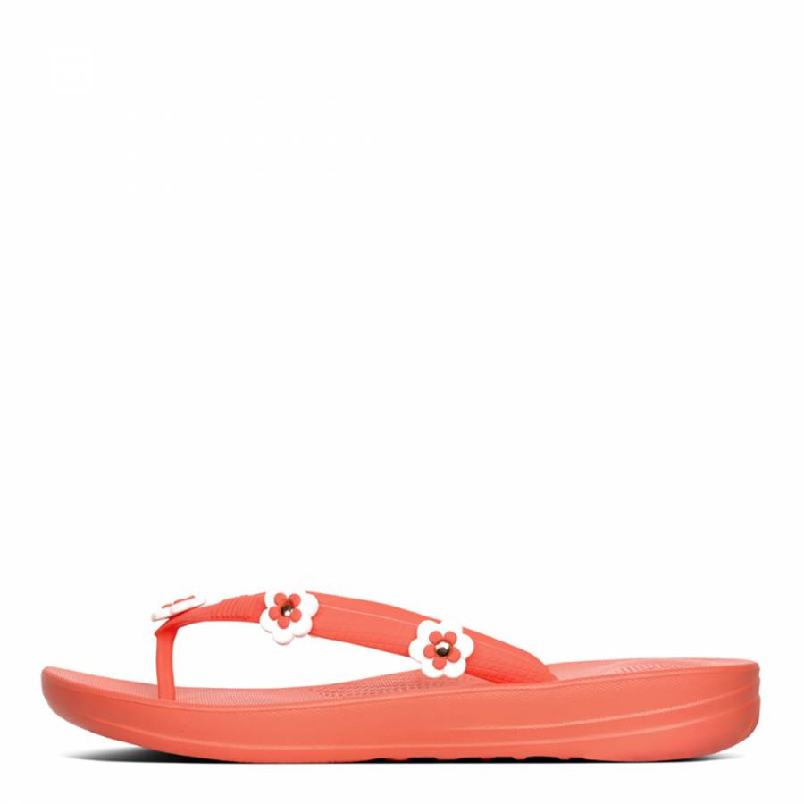 1f5c3950c Women s Coral Flower Stud iQushion Ergonomic Flip Flops - BrandAlley